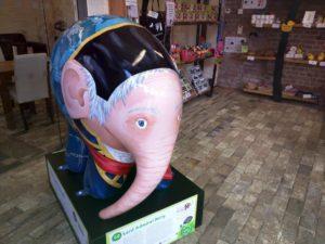 Elmer the Patchwork Elephant at Holywells Park